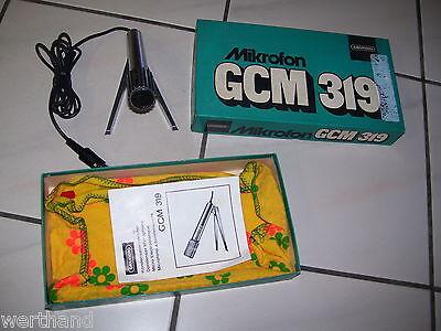 GRUNDIG GCM 319 MIKROFON MIT STATIV IN OVP