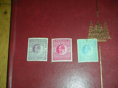 stamps edward v11 up to 5 shillings mint