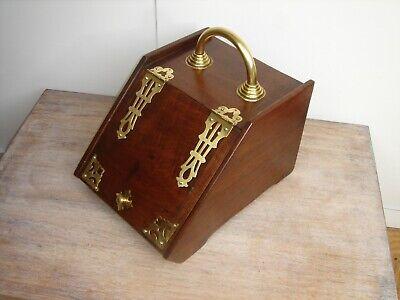 Edwardian Walnut Log/Coal Box/Purdonium with solid brass fittings circa1900-1910