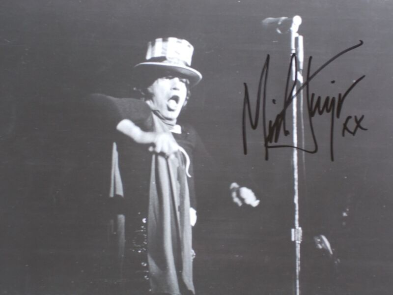 """MICK JAGGER SIGNED AUTOGRAPH PHOTO 8"""" X 10"""", free shipping"""