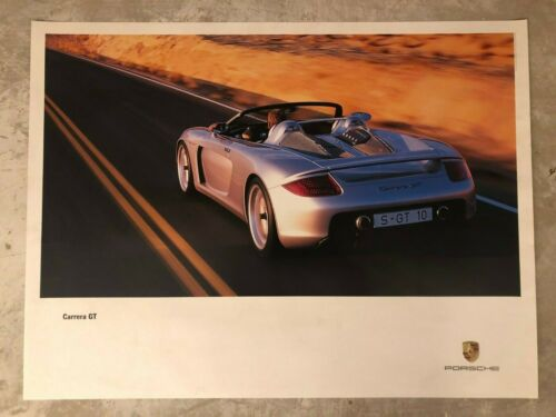 2001 Porsche Carrera GT Showroom Advertising Sales Poster RARE!! Awesome L@@K