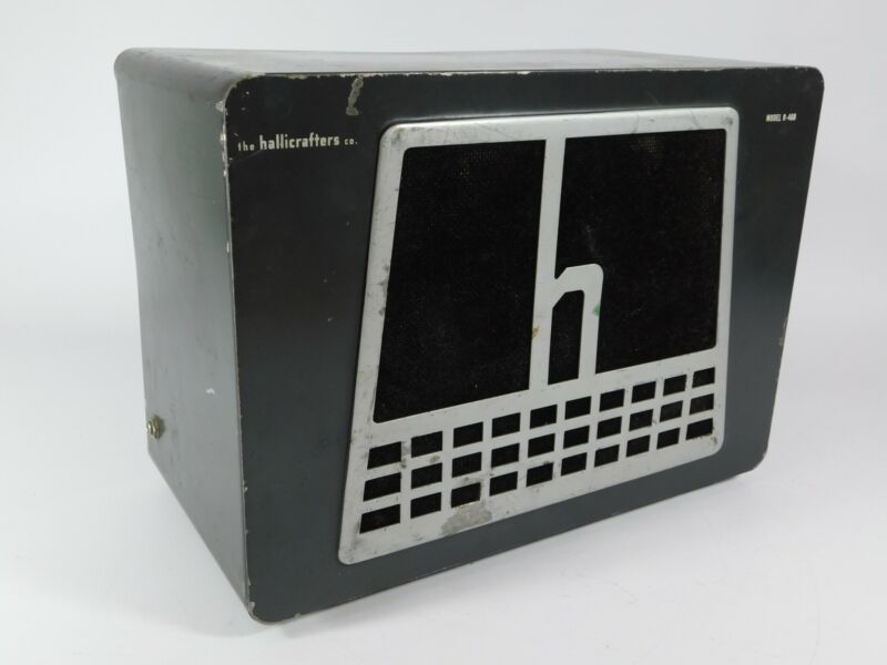 Hallicrafters R-46B External 3.2 Ohm Speaker for Vintage Receiver (sounds good)