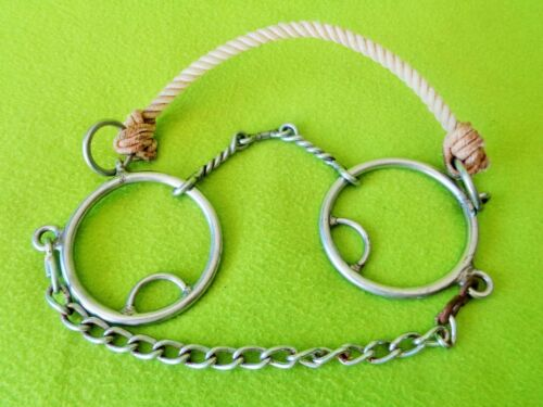 """L&W Rope Nose Combination Combo BIT~5"""" Twisted Dogbone Mouth~LIGHTLY Used~CLEAN"""