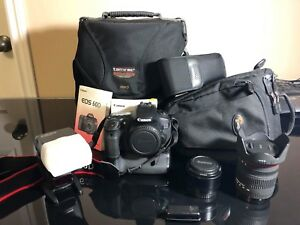 Canon EOS 60D  + 18-200mm + 50mm lenses and kit. Call for OFFER