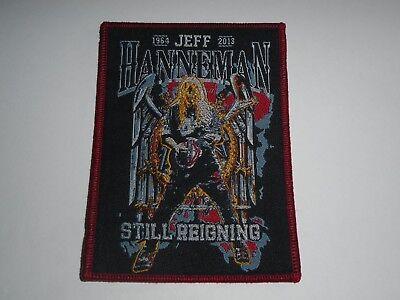 SLAYER JEFF HANNEMAN WOVEN PATCH