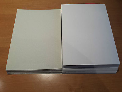 Pappe Karton Bastelkarton Graupappe A3 10 St.  1,0 mm weiß/grau