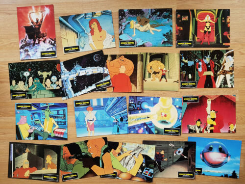 HEAVY METAL  rare set of 18 lobby cards ANIMATION Science-Fiction 1981
