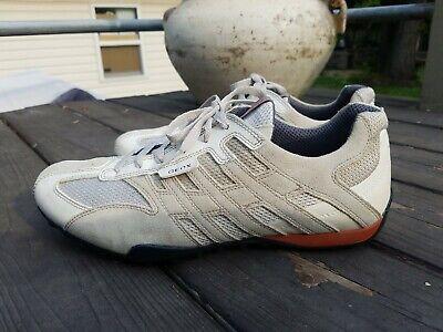 Geox Respira Sports Men Shoes Sneakers  Beige/White/Orange/Black - US Size 11