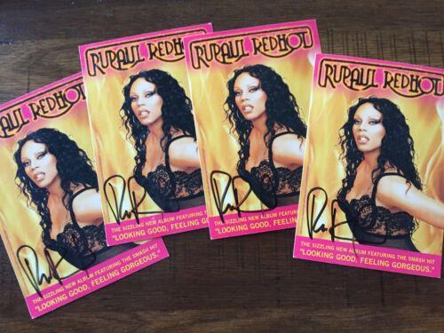 RuPaul Ru Paul - Autographed Signed Official Promotional Postcard Drag Race