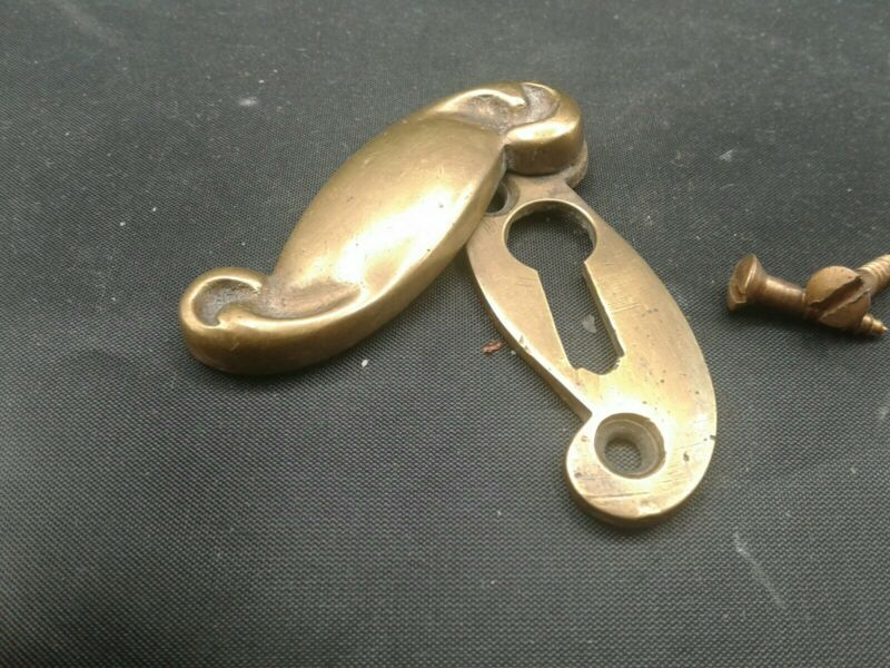 Vintage Brass Key Holes with Key Hole Cover-Qty 1 Price Per Each