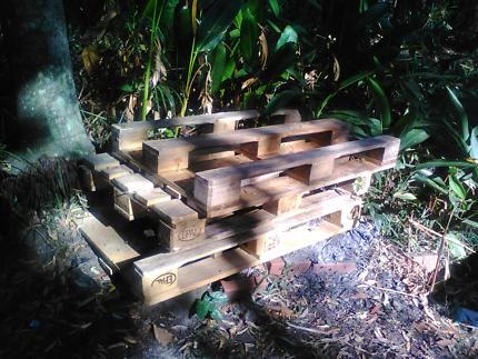 Three pine pallets FREE