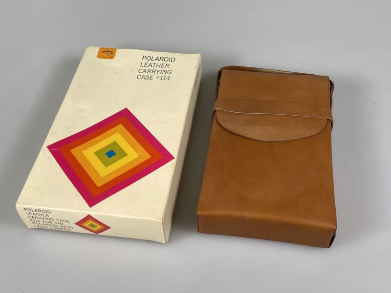 Excellent Condition Polaroid SX-70 Land Camera Fitted Leather Carrying Case