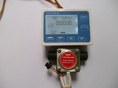 12 Liquid Gear Fuel Oil Flow Sensorlcd Display Control F Diesel Gasoline New