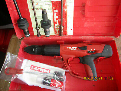 Hilti Dx 460 Powder Actuated Nail Gun W F8 F10 Fiel 3 Heads Combo Kit 831