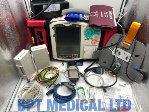 Philips Heartstart MRx 12 Lead ECG SpO2 NBP CO2 QCPR AED Monitor Fully loaded