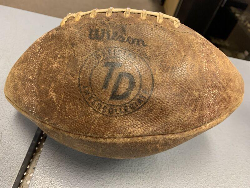 Vintage Wilson TD Official Intercollegiate Football