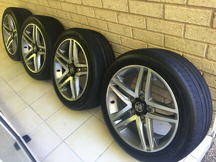 """Genuine Holden Commodore SS SV6 Series 2 18"""" alloy wheels tyres Corlette Port Stephens Area Preview"""