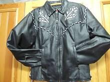 VENOM brand XL black ladies bike jacket with B/W rose/braid trim Littlehampton Mount Barker Area Preview