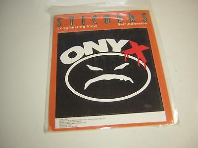 """ONYX  STICKER VINTAGE 1993 """"SLAM"""" HIP HOP FREDRO STARR STICKY FINGAZ MADFACE"""