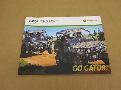 2014 John Deere Gator utility vehicle Accessories Attachments sales brochure John Deere Gator Accessories