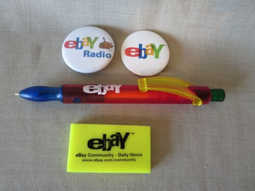eBay Pen, Pins, and Eraser eBay Collectibles Radio Brand New Community