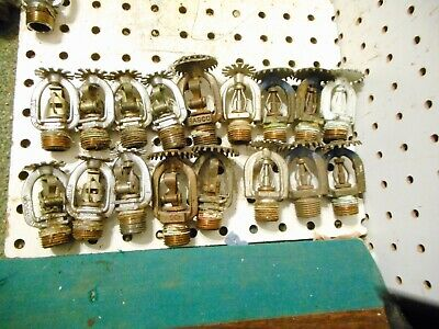 Lot Of 17 Used Automatic Fire Sprinkler Heads Rasco Central Metal Trig 12 Npt