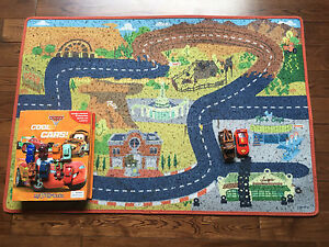 """Disney """"Cars"""" mat and busy book including 2 extra cars"""