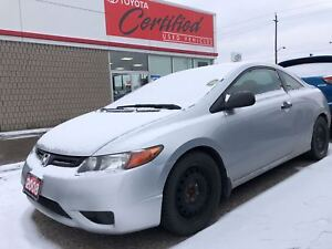 2008 Honda Civic DX-G, Only 86485 Km's, Automatic, Winter Tires