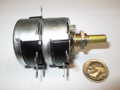 Cts Vintage Dual 40010 Ohm  Wire Wound 2 Watt Potentiometer Dc 1973  Nos