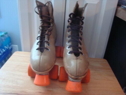 Womens Size 8- Vtg Riedell Full Grain Leather Rental Roller Skates