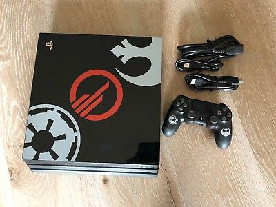 Ps4 Pro Sony Playstation 4 Pro 1Tb Black Console  Star Wars Firmware 5 05
