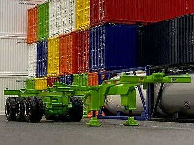 1/64 DCP LIME GREEN 40' TRI AXLE CONTAINER TRAILER 1