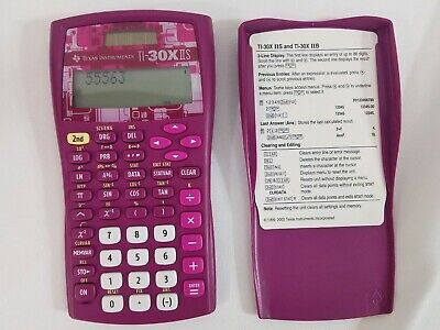 Used, Texas Instruments TI-30X IIS Scientific Calculator Solar Powered Tested w/ Cover for sale  Utica