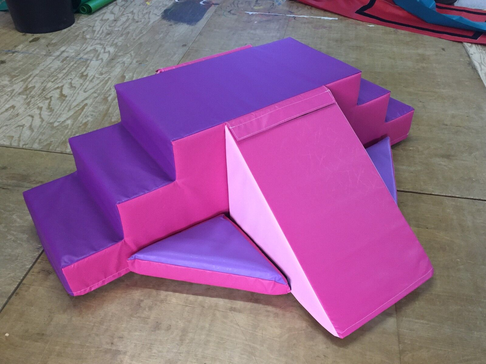 Pink and Purple Multy Sided Play Set - Slide/ Steps