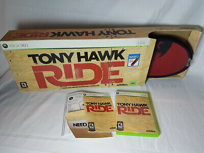 Tony Hawk Ride Xbox 360 Game and Wireless Skateboard Controller Skate Game