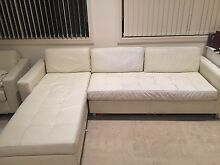100% white leather lounge Hurstville Hurstville Area Preview