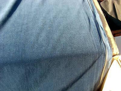1 mtr-- Baumwoll-Samt-Stoff  mit Goldkante, 150 cm breit, taubenblau(4101)