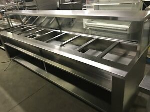9 well stainless hot steam table like new ! Only $2495 save$$
