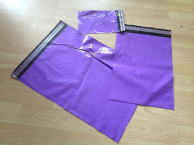 25 PURPLE Mailing & Packaging Plastic Postal Bags SMALL 6.7 x 4.6 FREE POSTAGE