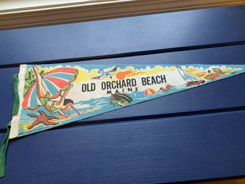 Vintage Old Orchard Beach Pennant Maine Summer