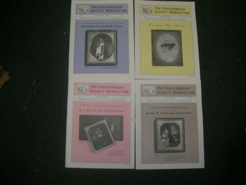 4 x DAGUERREIAN SOCIETY 1996 NEWSLETTER GREAT IMAGES & ARTICLES