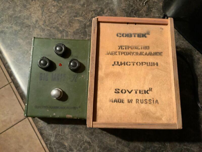Electro-Harmonix Sovtek Green Russian Big Muff Tall Font w/ Box