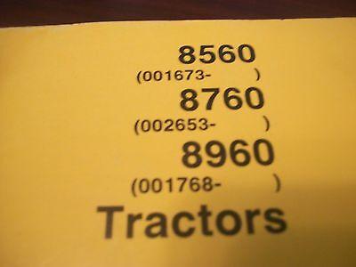 John Deere Operators Manual 8560 8760 8960 Tractors