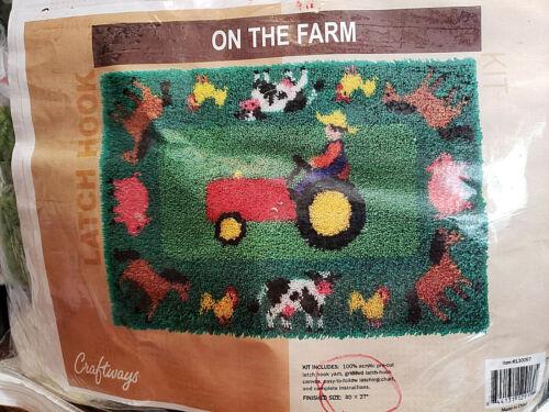 "CRAFTWAYS LATCH HOOK KIT ""ON THE FARM"" #130067"