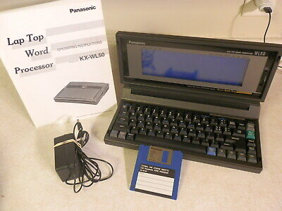 Vintage Panasonic Kx-wl50 Laptop Word Processor With Manual Power Cord