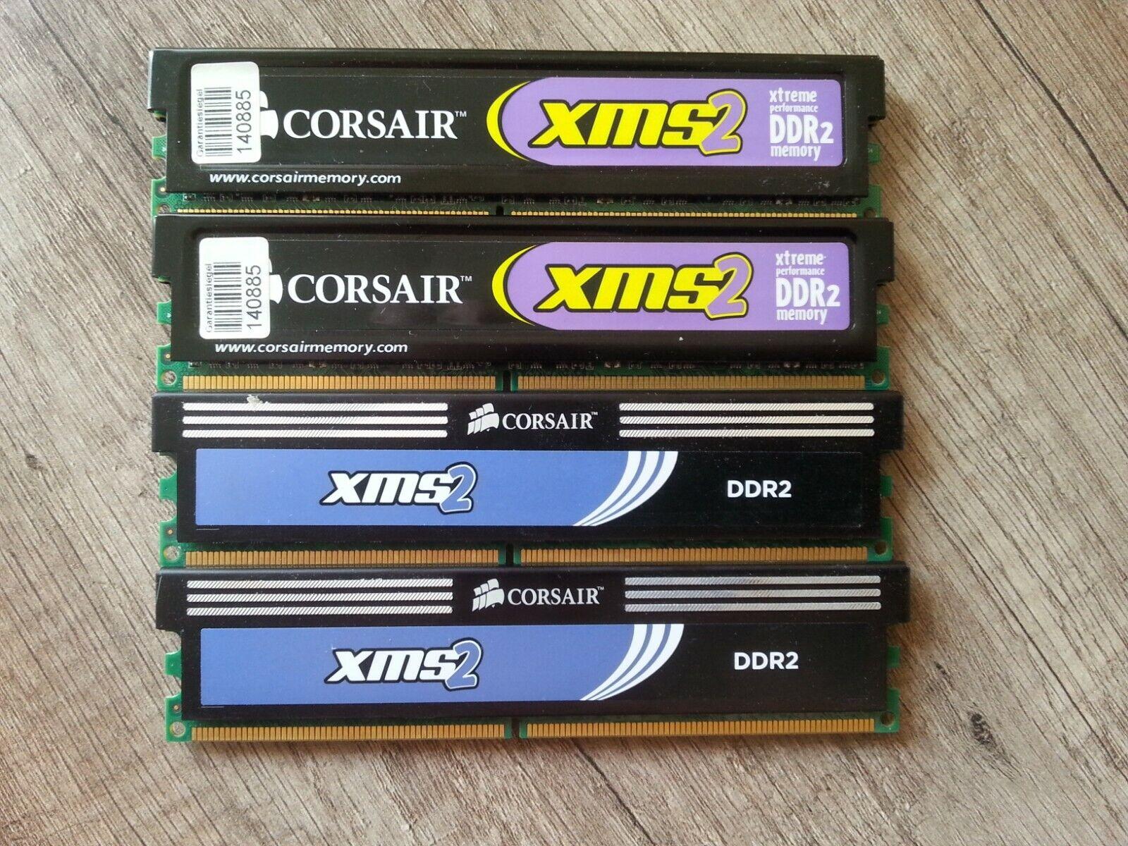 4x2 (8GB) DDR2 RAM für PC, Corsair XMS2 - siehe Bilder.
