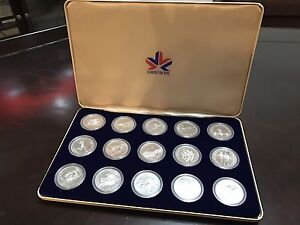 Vintage complete 1978 commonwealth games coin set.