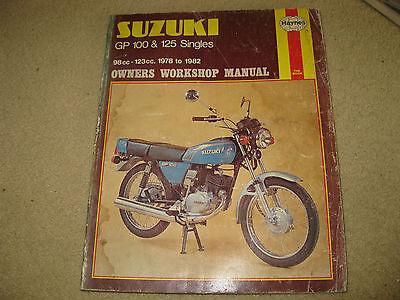 Haynes Suzuki Motorcycle Service Owners Workshop Manual Book GP 100 125 Singles
