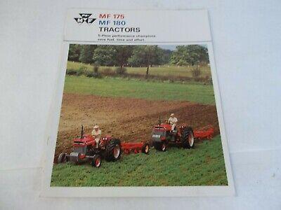 Massey Ferguson Mf175 Mf180 Tractors Brochure