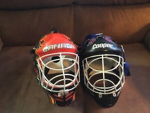 Kids' Road Hockey Goalie Masks $10 each.